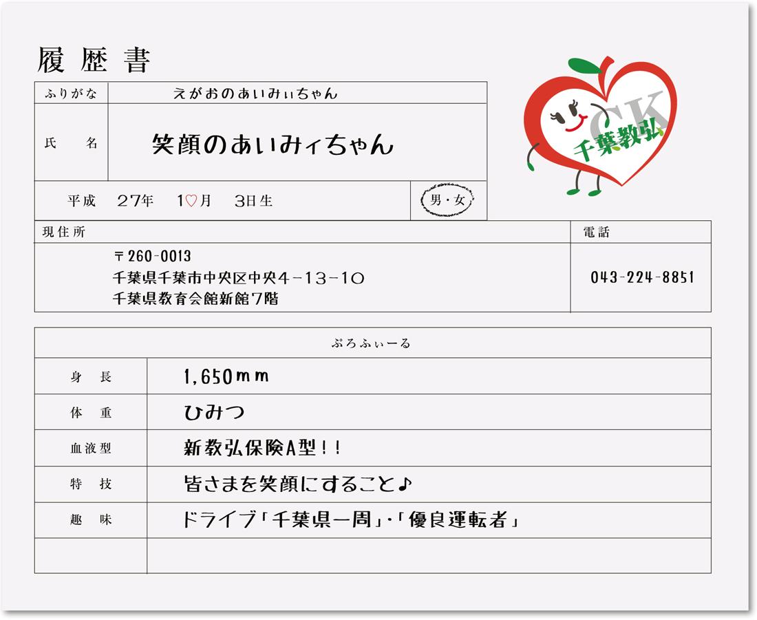 笑顔のあいみィちゃんの履歴書