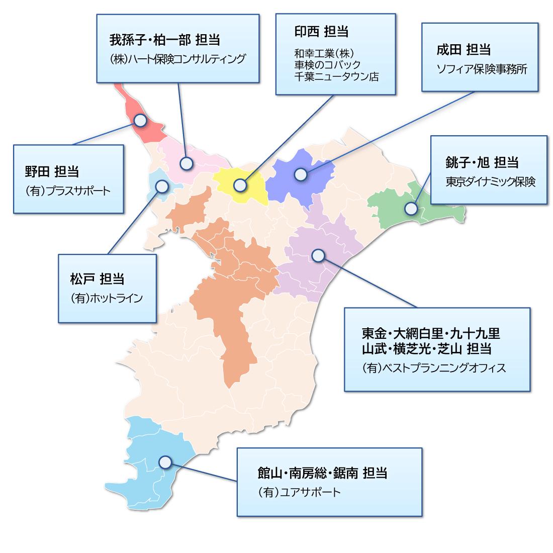千葉県の地図
