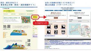 東京海上日動『防災・減災情報サイト』、国土交通省『ハザードマップ』
